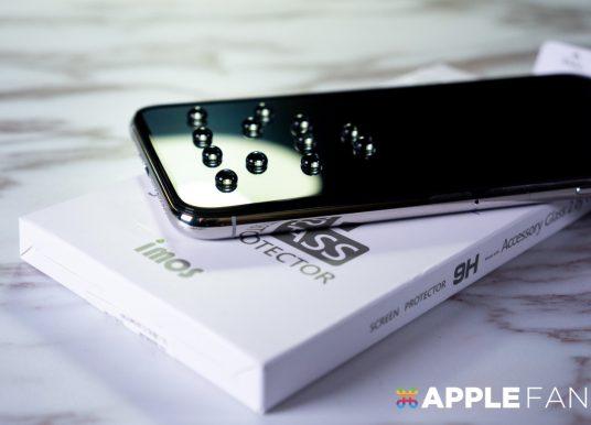 【開箱】iPhone XS Max 專用 imos 3D 滿版玻璃保護貼 自己動手貼!