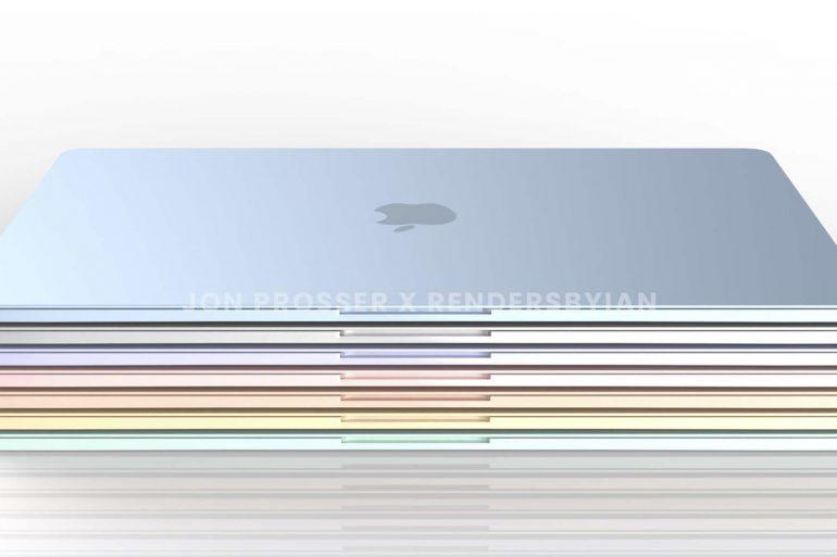 多種顏色的 MacBook Air