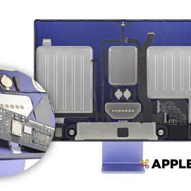 ifixit 拆解 M1 iMac