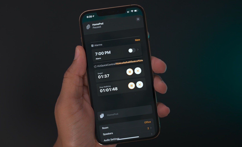 Home App HomePod timer