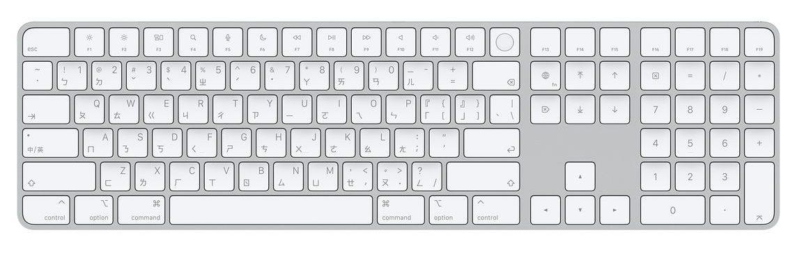 含 Touch ID 和數字鍵盤的巧控鍵盤