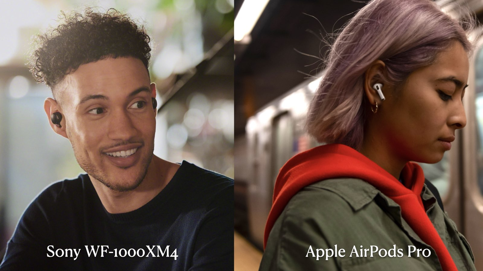 Sony WF-1000XM4 與 Apple AirPods Pro