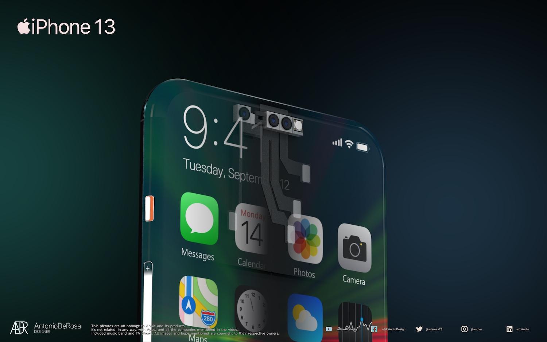 iPhone 13 sensor housing