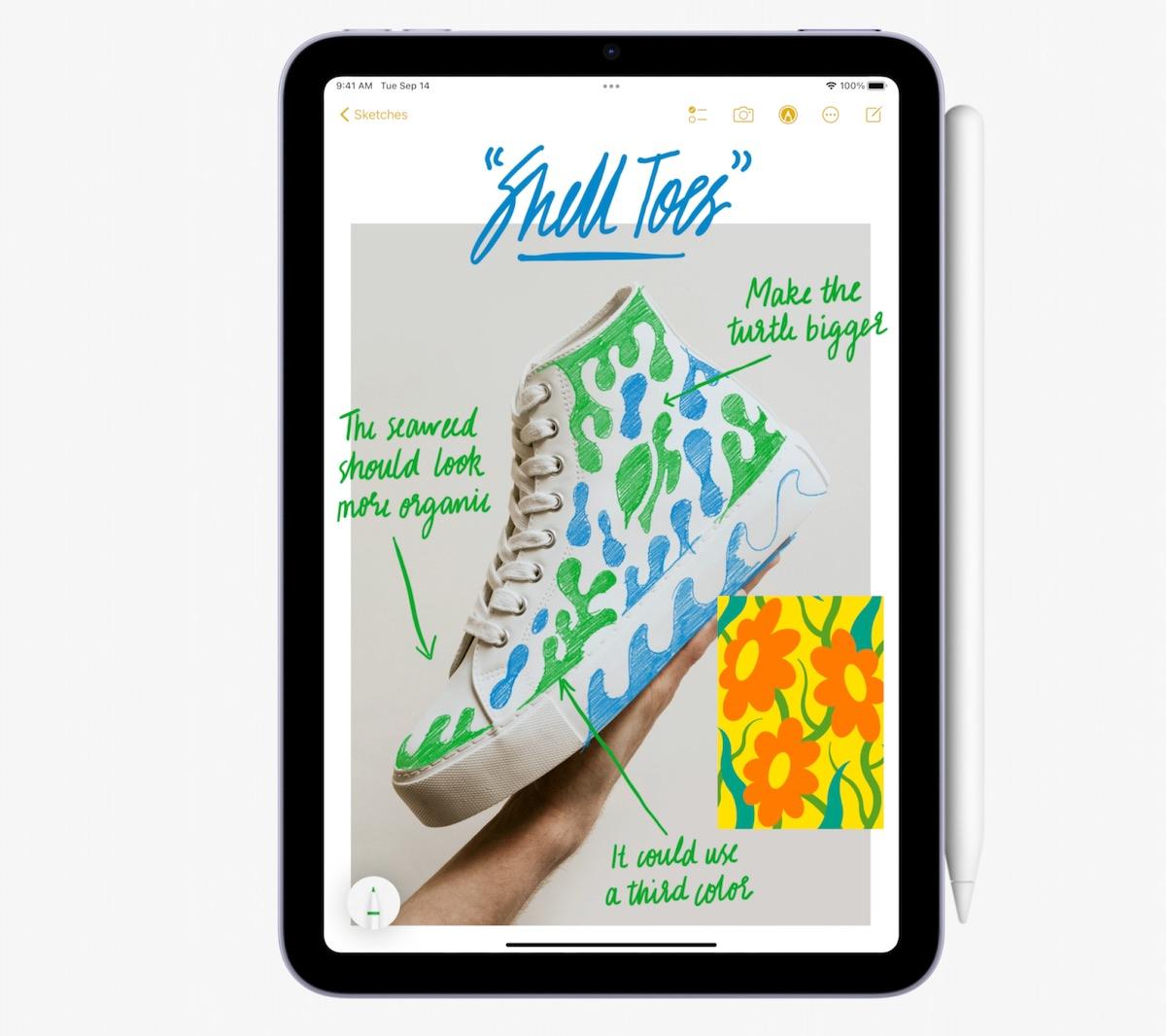 iPad mini 6 支援 Apple Pencil 2