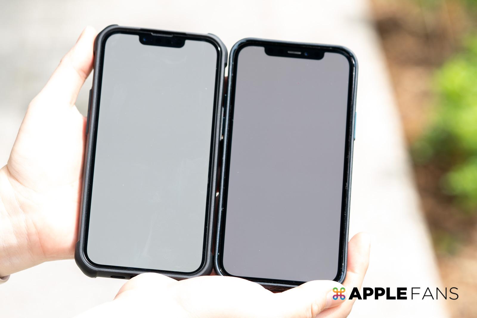 iPhone 13 Pro 與 iPhone 12 Pro 的尼特數比較